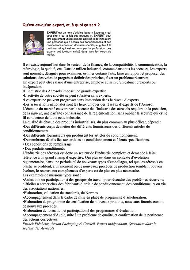 News letter FR Activités du Comité Français des Aérosols